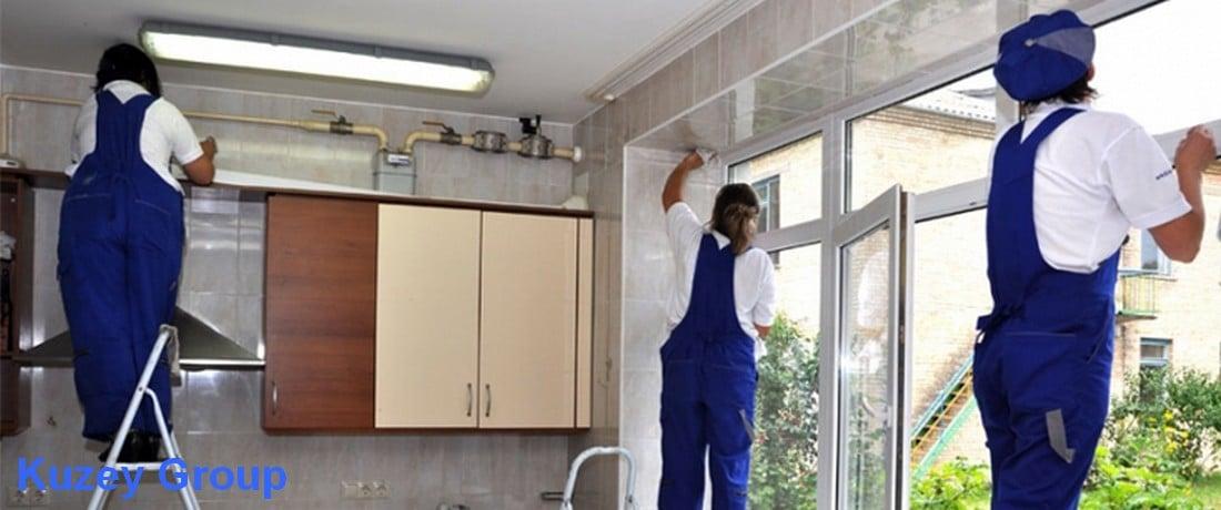 Ev temizliği, eşyalı - boş daire temizlikleri. İnşaattı bitmiş daire, su baskını yaşamış evlerde su çekimi işlemleri