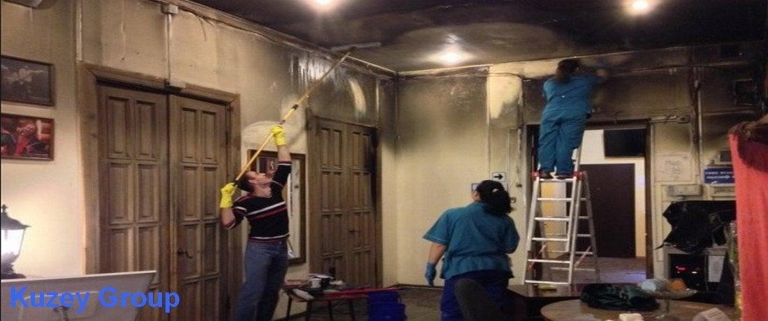 yangın sonrası temizlik nasıl yapılır, neler kullanılır, is ne ile temizlenir